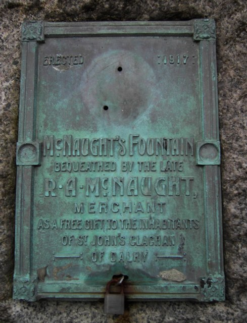 McNaught's Fountain Plaque