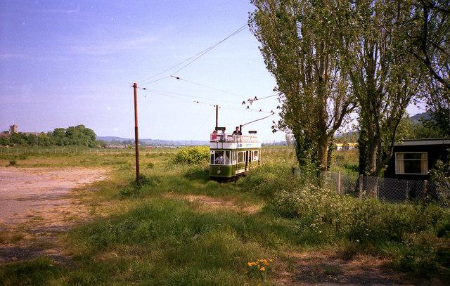 Approaching Seaton by tram