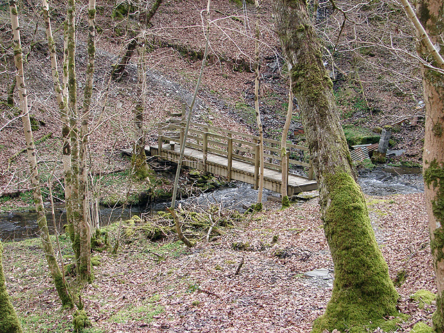 Footbridge crossing Nant-y-fawnog