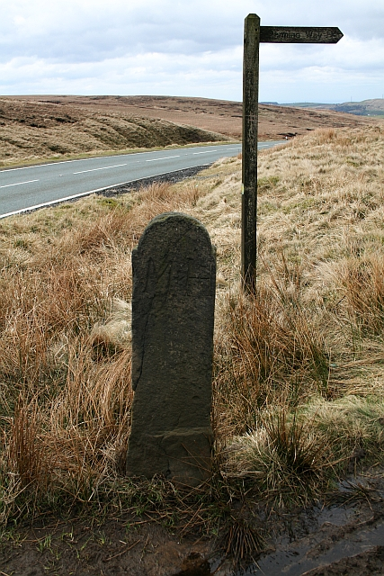 Boundary Stone at Haigh Gutter