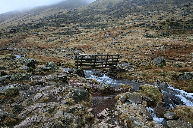 Footbridge Over Styhead Gill