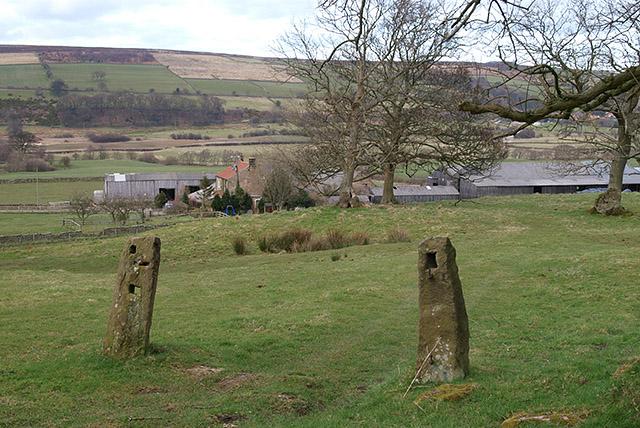 Gateposts near Crag Farm