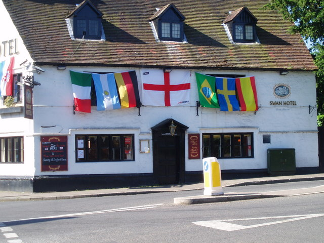 Flags out, Swan Hotel,                       Kineton