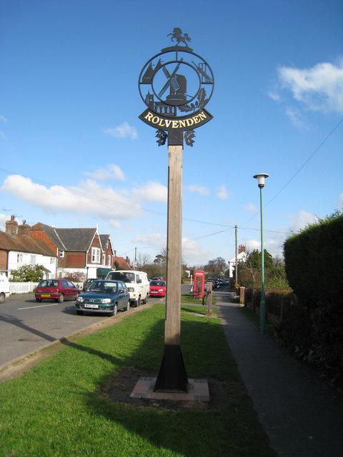 Rolvenden Village Sign