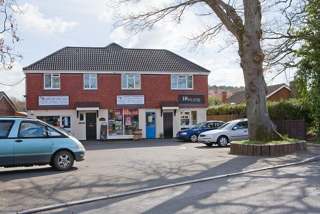 Local shops on Lower Common Road, West Wellow