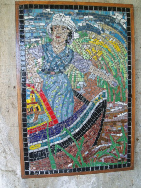 Mosaic under Road Bridge. Nr Stoke Bruene