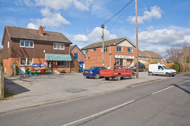 Local shops in Lower Common Road, West Wellow