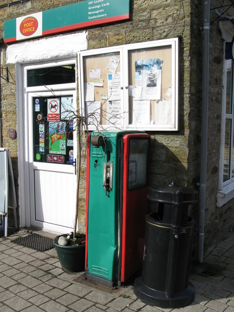 Vintage petrol pump at Rookhope Post Office