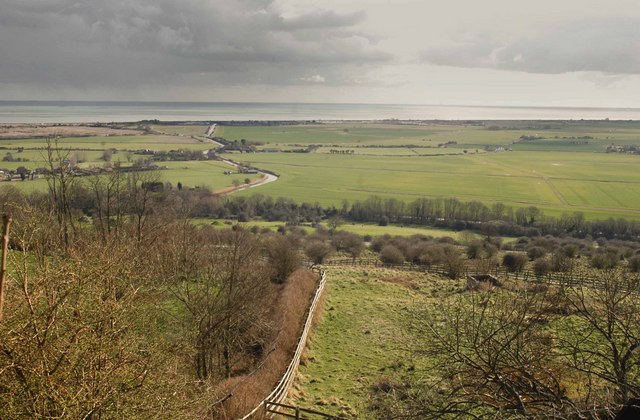 """Three Ages of Defence - From """"The Roughs"""" above Romney Marsh"""