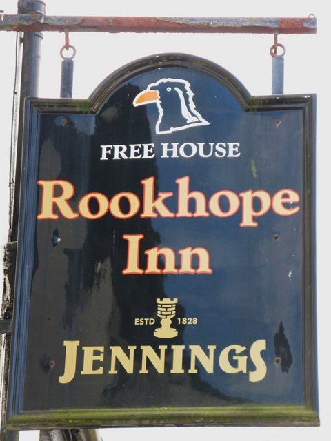 Sign for the Rookhope Inn