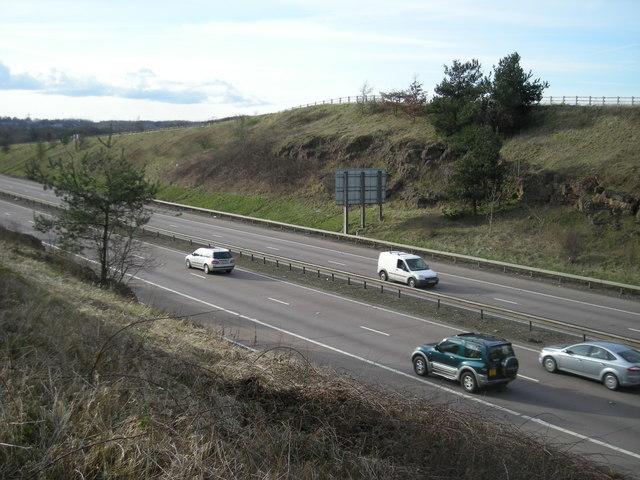 Traffic on the M54