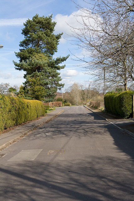 The end of School Road, West Wellow