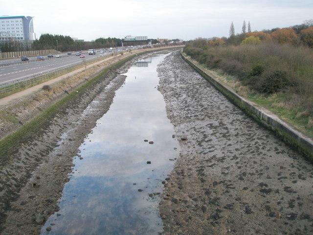 Portsea Creek at Hilsea Lines