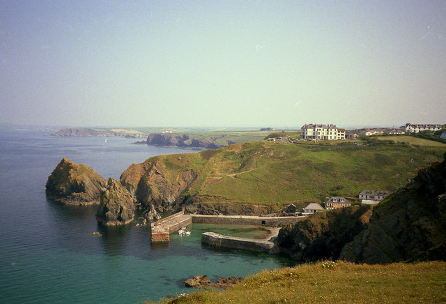 View over Mullion harbour
