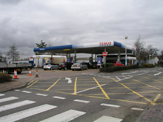 Petrol station at Broadbridge Heath Tesco