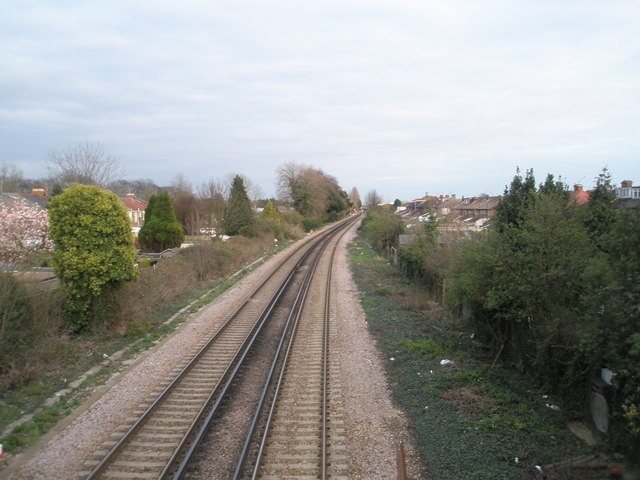 Looking towards the Railway Triangle from Windsor Road Bridge
