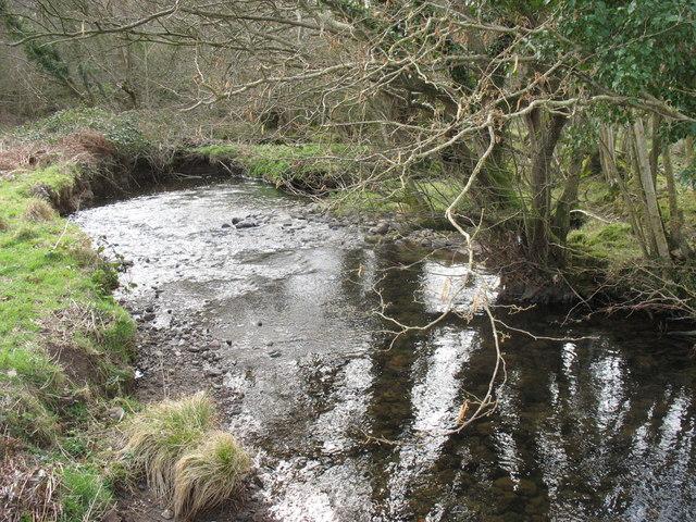 Afon Carrog from the footbridge