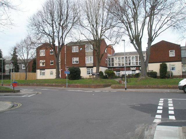 Quiet crossroads at Cosham