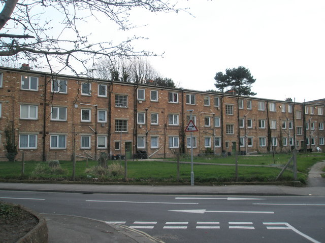 Rear of flats in Magdala Road, Cosham
