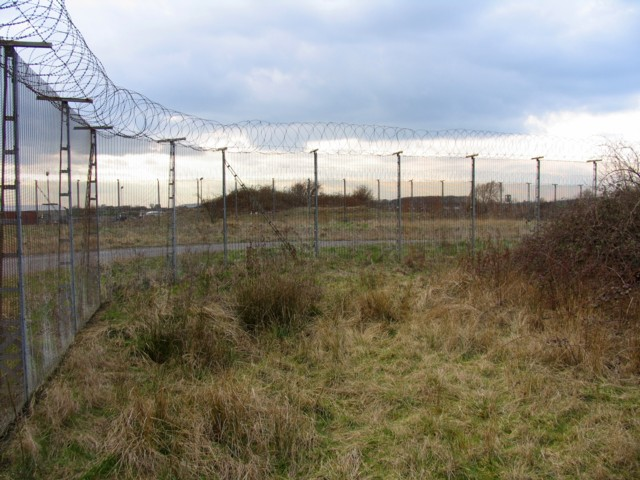 Mole proof fencing at RAF Molesworth