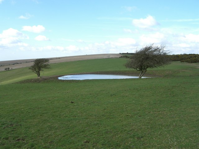 Dewpond off South Downs Way
