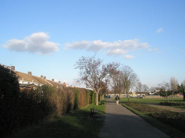 A winter stroll at Drayton Park