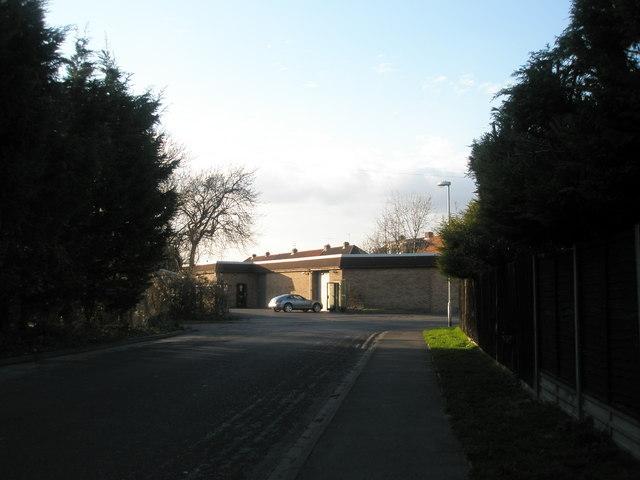 Rear of British Telecom Depot