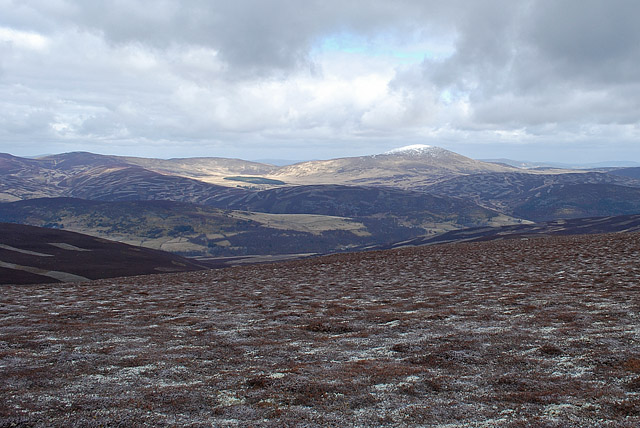 Looking north east from the summit of Geallaig Hill