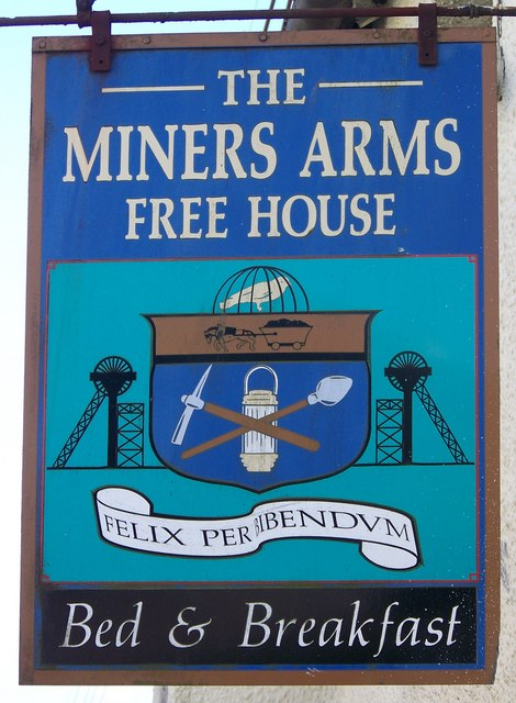 Sign for the Miners Arms, North Molton