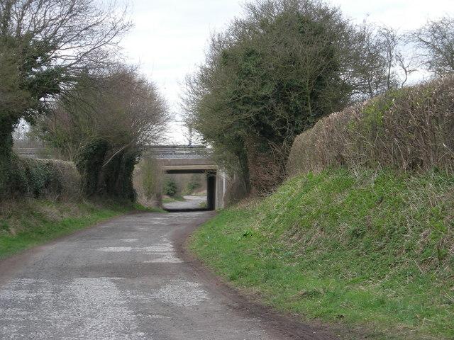 Limekiln Lane goes under the M54