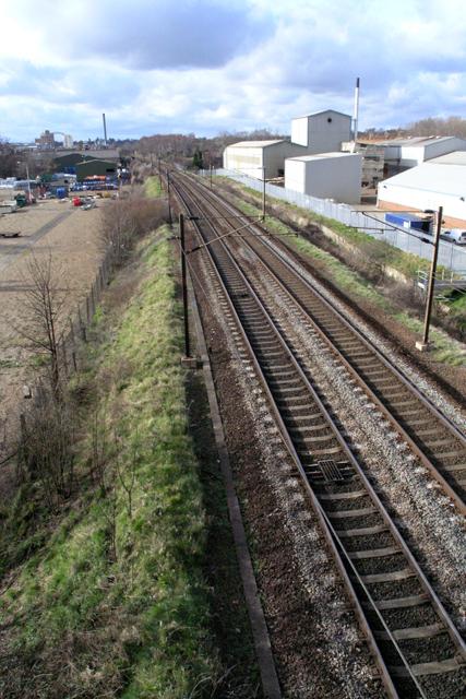 Railway towards Stowmarket