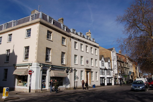 Oxford: on the corner of Pusey Street with St Giles