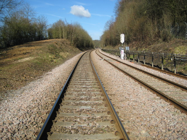 Amersham: Railway line towards Great Missenden