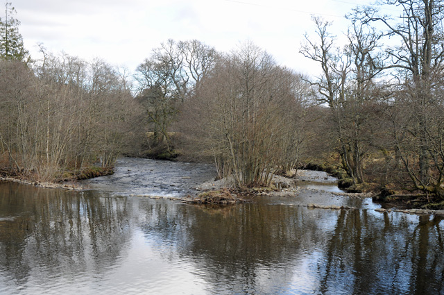 Weir on the River Almond