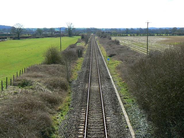 Railway towards Yeovil, near Cockhill