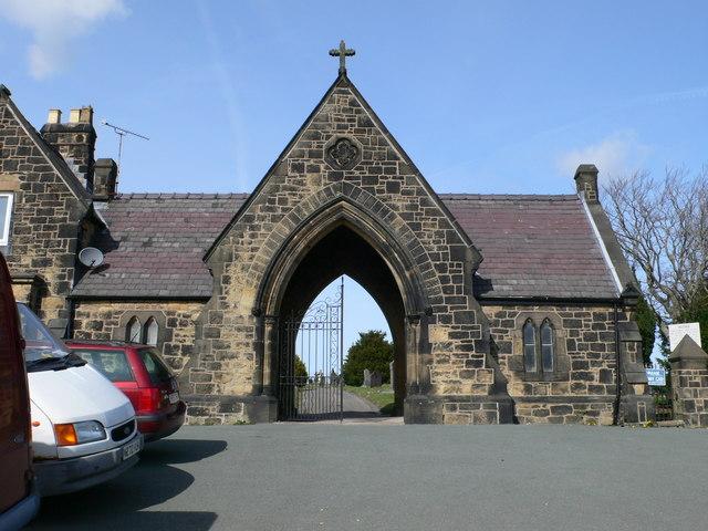 Entrance gateway to Brynfields Cemetery