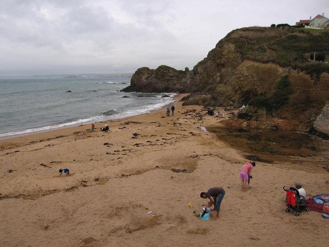 Beach & headland, Outer Hope