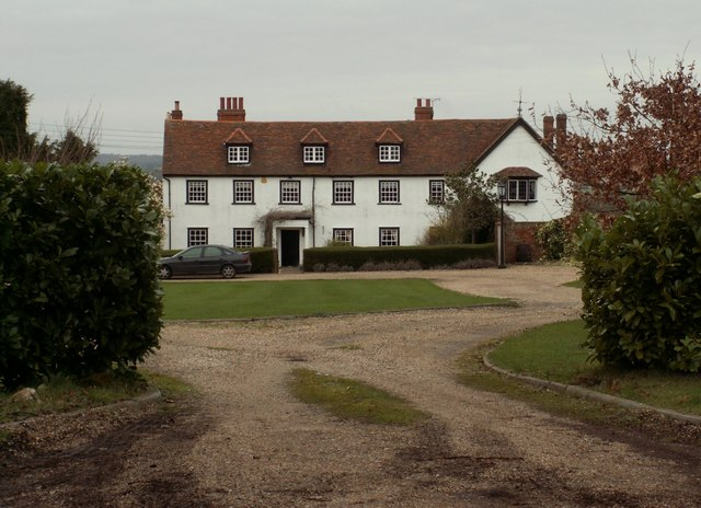 A view of Lambourne Hall from the church