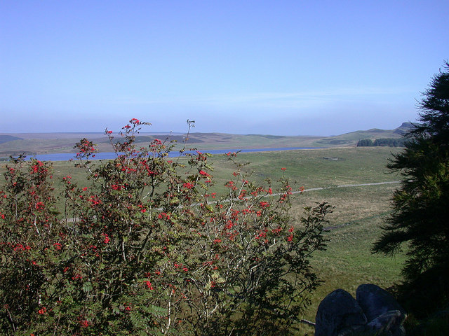 View of Broomlee Lough from Hadrian's Wall