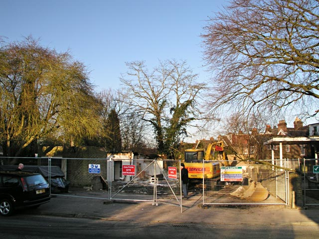 Demolition of St Johns Church Hall