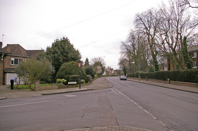Junction of Drapers Road and the Ridgeway, Enfield