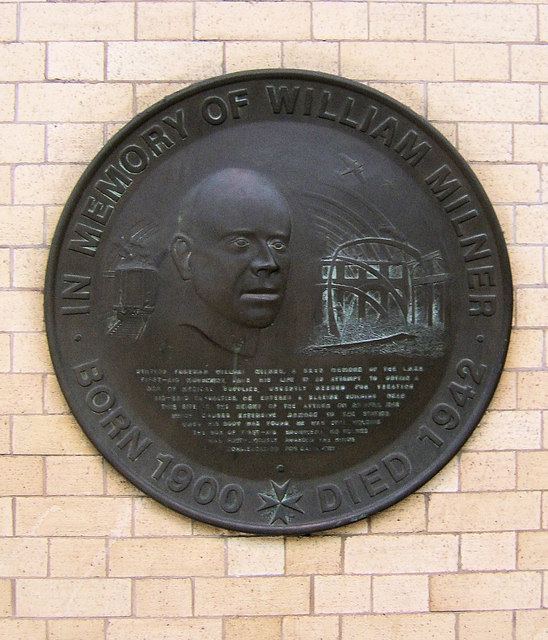 Memorial Plaque to William Milner, York Railway Station