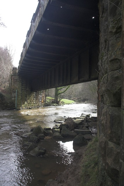 Railway bridge below Beggars Bridge