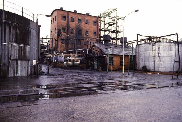 T Ness, Caerphilly Tar Distillation Works, Railway Terrace