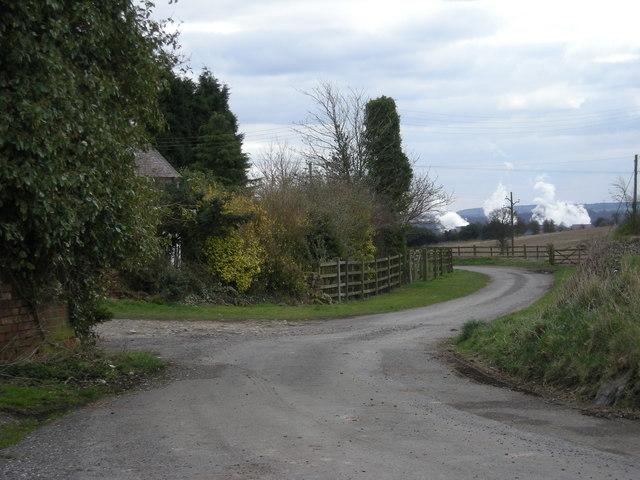 Lane beside Lower Huntington Farm