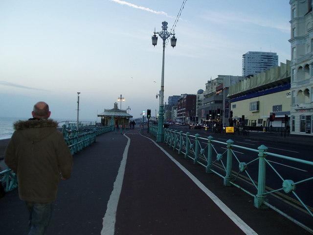 The Monarch's Way on The Esplanade, Brighton