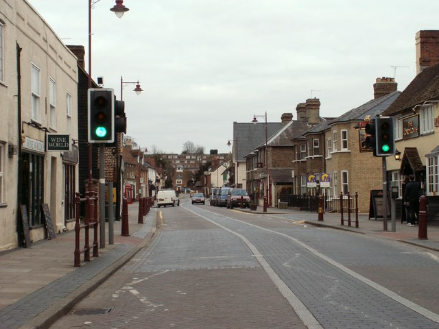 The High Street at Stanstead Abbotts