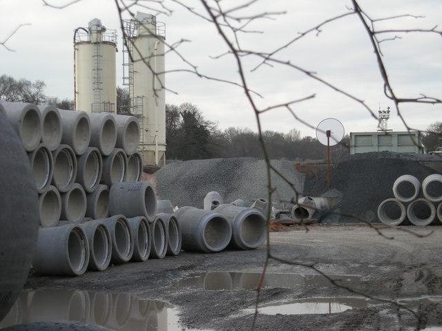 Concrete pipe factory