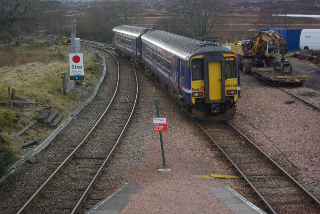 Departing Rannoch Station