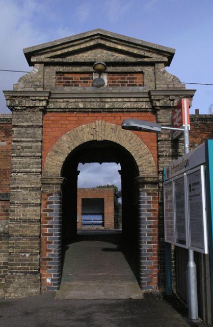 South platform entrance, Needham Market station